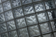 Glass blocks wall. Background texture Stock Images