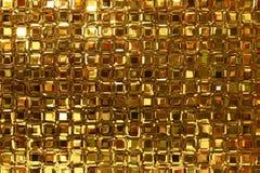 Glass blocks window with golde Royalty Free Stock Image