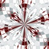 Glass blommig design Arkivfoton
