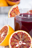 Glass with Blood Orange Juice Royalty Free Stock Images