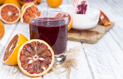Glass with Blood Orange Juice Royalty Free Stock Photography