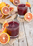 Glass with Blood Orange Juice Stock Photography