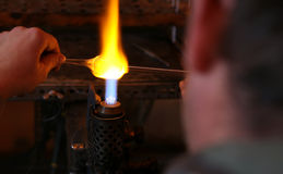 Glass blower. Stock Image