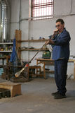 Glass blower Stock Image