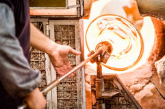 Glass blower Royalty Free Stock Photos