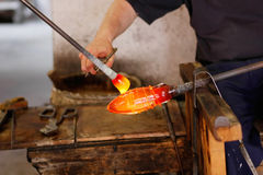 Free Glass Blower At His Work Stock Images - 10441524