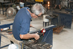 Glass blower in city Mdina on the island Malta Royalty Free Stock Photography