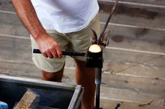 Glass Blower, Glass Blowing, Craft Royalty Free Stock Photography