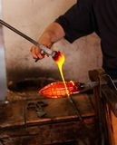 Glass Blower at His Work Stock Image