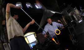 Glass blowery workers 012 Stock Image