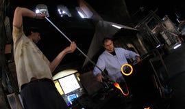 Glass bloweryarbetare 012 Fotografering för Bildbyråer