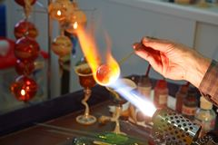Glass Blowing 2. Stock Images