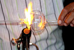 Glass blowing Stock Photo