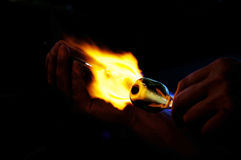 Glass Blowing Royalty Free Stock Photo