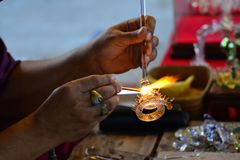 Glass blowing Art Royalty Free Stock Images