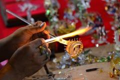 Glass blowing Art Stock Image