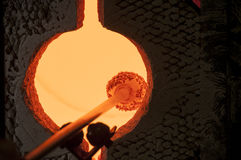 Glass blowing Stock Photography