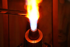 Glass Blowing Flame Close Up Royalty Free Stock Images