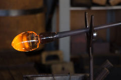 Glass blowing Leerdam Royalty Free Stock Photography