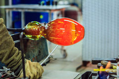 Glass Blowing, Leerdam, Netherlands. Royalty Free Stock Photos