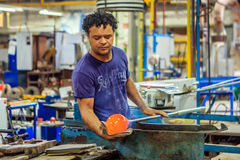 Glass Blowing, Leerdam, Netherlands. Royalty Free Stock Images