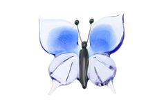 Glass blue butterfly isolated on white Royalty Free Stock Photo