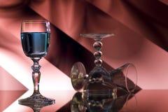 Glass of blue liqueru Stock Images