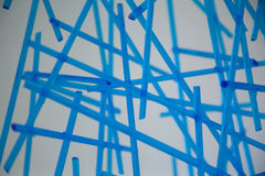 Glass blue pipes Stock Photo