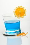 Glass of Blue shark Royalty Free Stock Photography