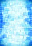 Glass blue squares Royalty Free Stock Photo