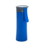 Glass blue thermos on a white background Stock Photography