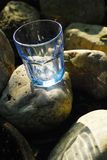 Glass Blue Transparent Stone Empty Royalty Free Stock Photography