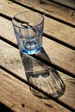 Glass Blue Transparent Wood Empty Stock Photography
