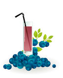 Glass of blueberry juice Royalty Free Stock Photo