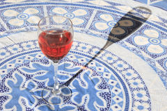 A Glass of Blush Red Wine Royalty Free Stock Image