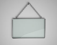 Glass board with metal frame Royalty Free Stock Photography