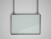 Glass board with metal frame Royalty Free Stock Image