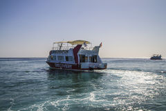 Glass boat in naama bay Royalty Free Stock Photo