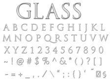 glass bokstäver Royaltyfria Bilder