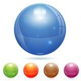 Glass boll 3D Fotografering för Bildbyråer