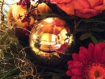Glass boll med reflexion Arkivfoton