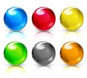Glass bollar stock illustrationer