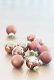 Glass bollar för ljus jul Arkivbild
