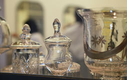 Glass bordsservis Royaltyfria Foton