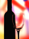 Glass And Bottle Abstract Background Royalty Free Stock Images