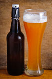 Glass and bottle of beer Royalty Free Stock Images