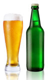 Glass and bottle of beer Stock Image