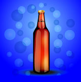 Glass bottle  with the carbonated drink Royalty Free Stock Photos