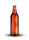 Glass bottle  with the carbonated drink Stock Image