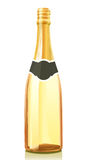 Glass bottle with Champagne wine Stock Photography